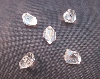 Tibetan Herkimer Diamond - Set of 5 - Attunement Stone, Clarvoyance, Claraudience, Body Tension, Remove Blockages from Path - Crystal Cave