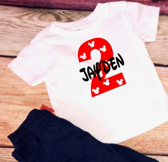 bf8d53316 Mickey mouse birthday outfit / Mickey Mouse shirt / Mickey   Etsy