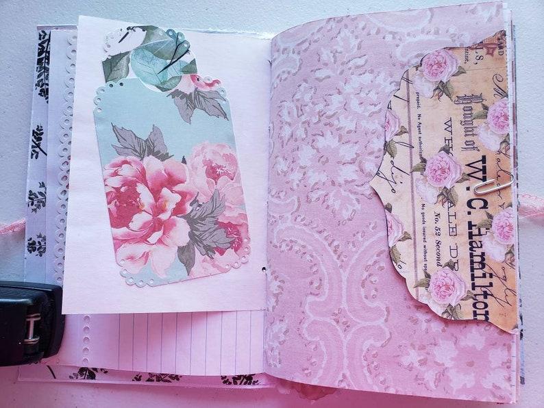 Light Pink Journal junk journal scrapbook planner baby | Etsy