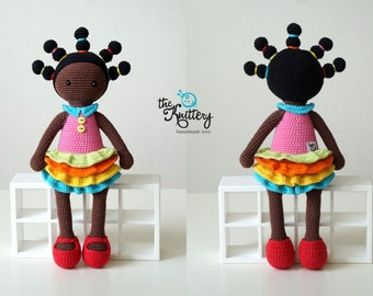 Crochet doll with braids, dress and shoes / Crochet toy / Amigurumi doll / Chirstmas, birthday gift / Girl toy / Doll / Gift