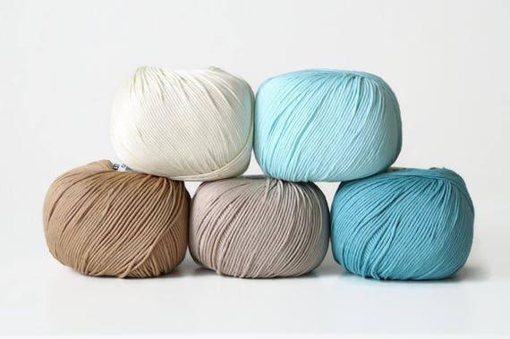 Crochet yarn DMC Natura Just Cotton set of 5 skeins | Etsy