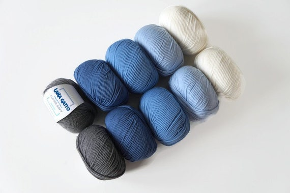 SUPERSOFT BABY WOOL//YARN BLUE SO CRAFTY 4X 100G 400g