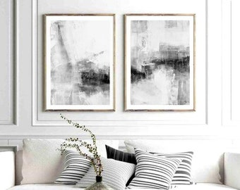 Gray And White Art Etsy