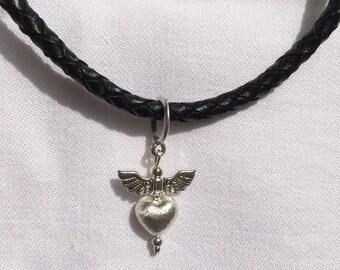 Necklace Leather black for BON JOVI Fans Herat & Dagger