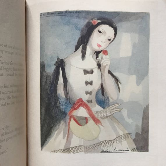 Camille, by Alexandre Dumas, 1937. Illustrated and SIGNED by MARIE LAURENCIN (!).
