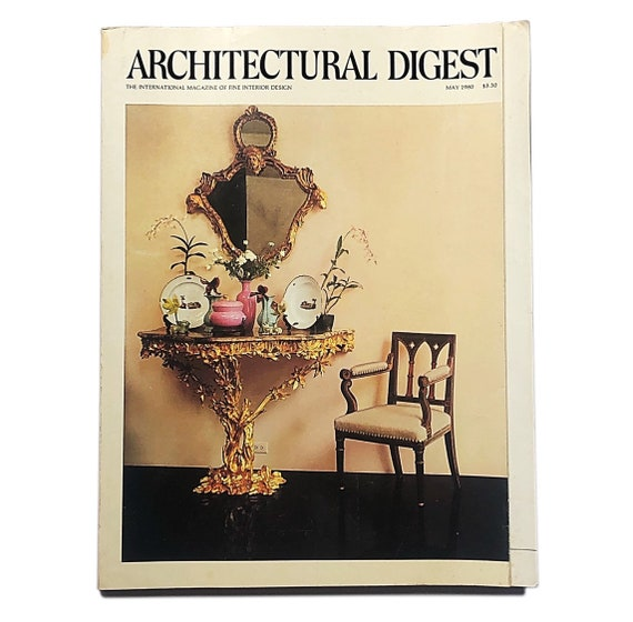 Architectural Digest, May 1980. Features the Chinese Pavilion at Drottingholm, Ursula Andress's LA home, Horst's recollections, and more.
