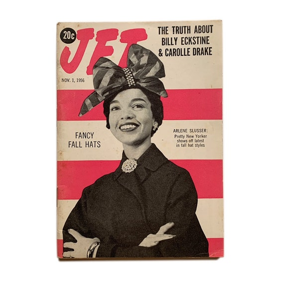 Jet Magazine, November 1, 1956. Fancy Fall Hats Special.