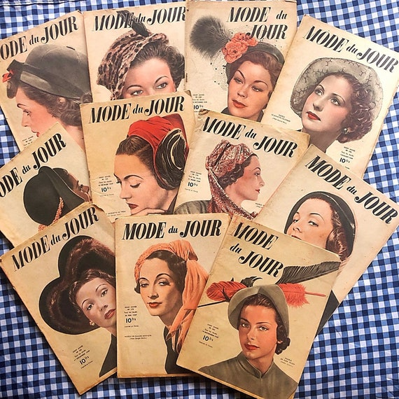 Mode du Jour super-pack, 11 issues from 1949.