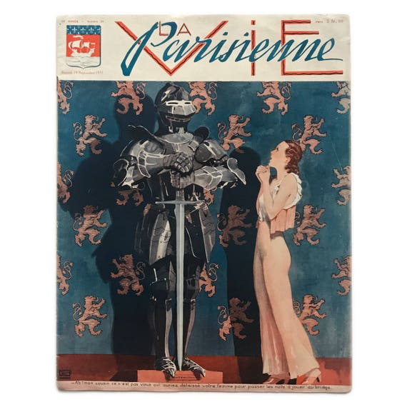 La Vie Parisienne, September 19, 1931. French magazine of naughty Art Deco flapper illustrations.