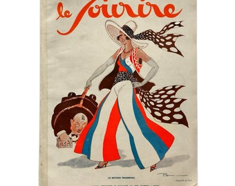 Le Sourire, October 9, 1930. Fun and unusual copy of the Art Deco French pinup magazine.