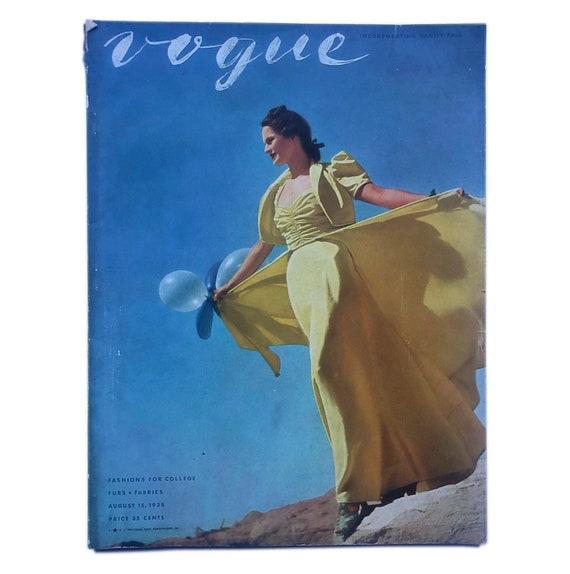Vogue, August 15, 1938. Collegiate style edition.