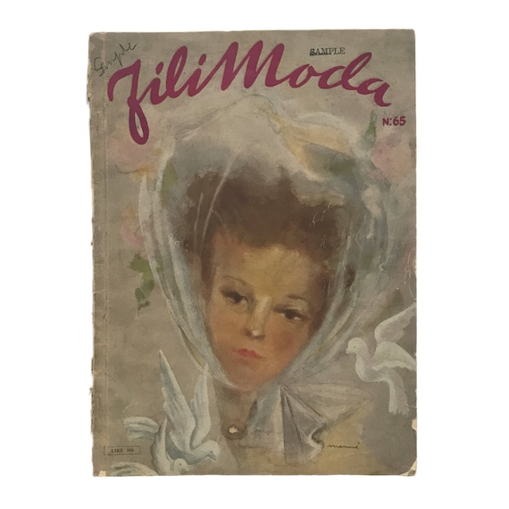 Filimoda, May 1947. Rare Italian fashion magazine.