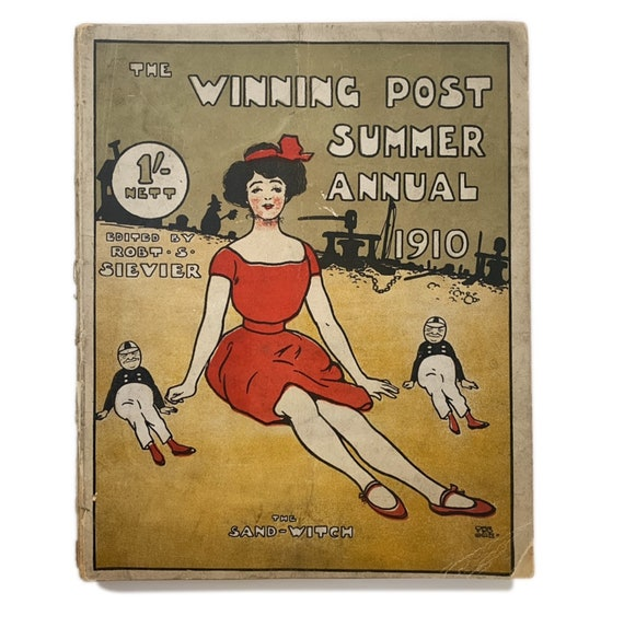 """The Winning Post Summer Annual, 1910, with """"Sand Witch"""" themed cover."""