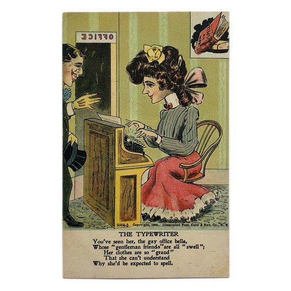 "Vinegar Valentines: ""The Typewriter,"" copyright 1905."