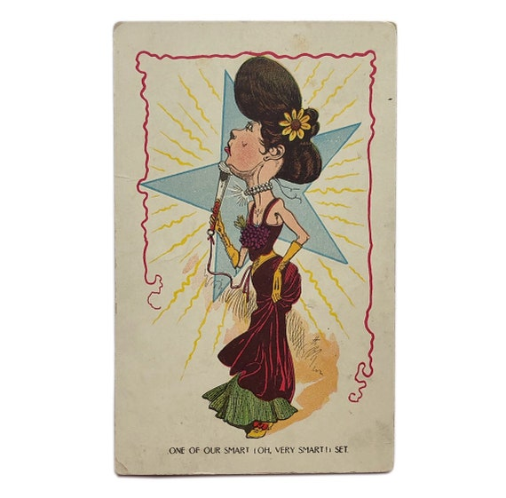 """Vinegar Valentines: """"One of Our Smart Set,"""" 1900s - 1910s."""