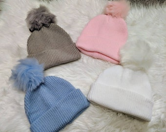 f216850a49970 STOCK CLEARANCE    Personalised pom pom hat