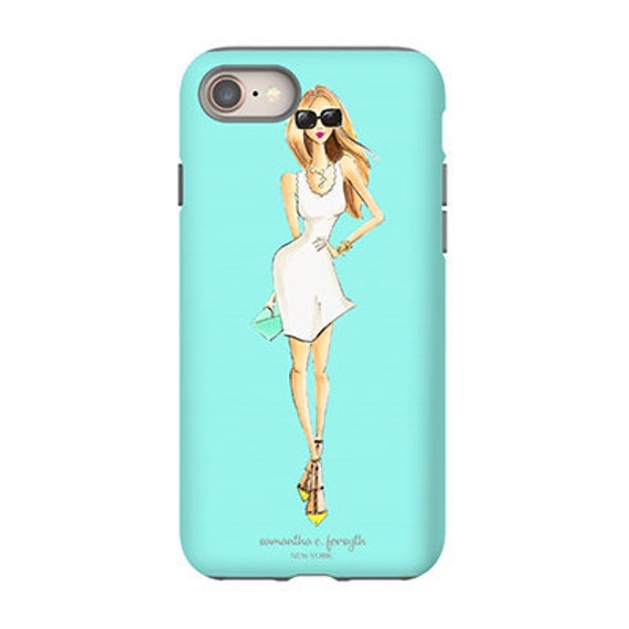 hot sale online 5f78b dc626 Fashion Illustration, Fashion phone case, iPhone 8 case, iPhone x case,  Tiffany blue iPhone case, girl phone case, cute iPhone x case, lg g7