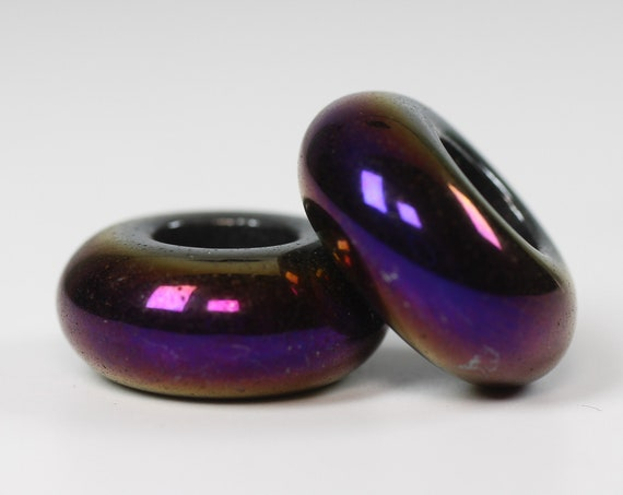 Nebula Dreadlock Bead // 6mm Beads Hole - Set of 2 // Beads for Dreadlocks, Dread Beads, Hair Jewelry, Dread Accessories, 4D058
