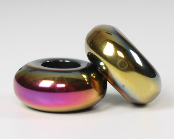 Fire Goddess Dreadlock Bead // 6mm Beads Hole - Set of 2 // Beads for Dreadlocks, Dread Beads, Hair Jewelry, Dread Accessories, 4D061