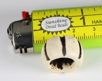 Bone Dread Bead - 10mm bead holes -