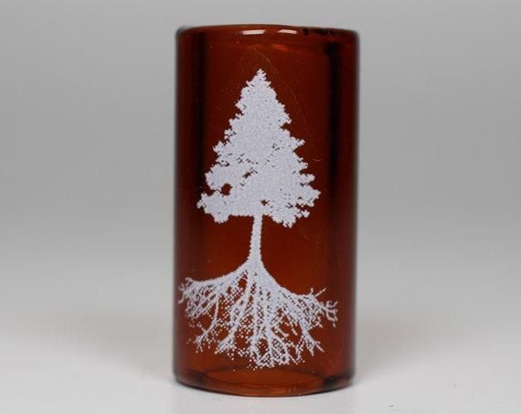 Cedar Tree Dread Bead - CUSTOM Color & Hole Size - Glass Dreadlock Bead, Lampworked Bead, Loc bead, Loc Accessories, Dread Jewelry, 5B 007