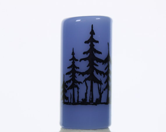 Moonlit Forest Dread Bead - Blue - 8 mm bead hole - Glass Dreadlock Bead, Lampworked Bead, Loc bead, Loc Accessories, Dread Jewelry