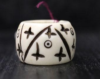 Bone Dread Beads -14mm bead hole -