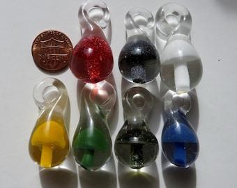 "Mushroom Pendant One Large - 1.5"" tall Pendant Choose your color -Over 20 colors to choose from -  Pendant Only or Necklace"