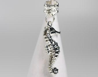Seahorse Dreadlock Bead - 5 mm bead hole - Dreadlock Accessories, Ocean Themed Dread Beads, Hair Jewelry, Loc Beads, 4D0025