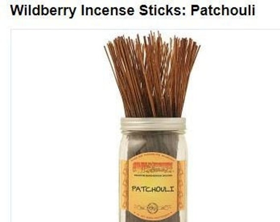 Patchouli wildberry incense, 10 pack