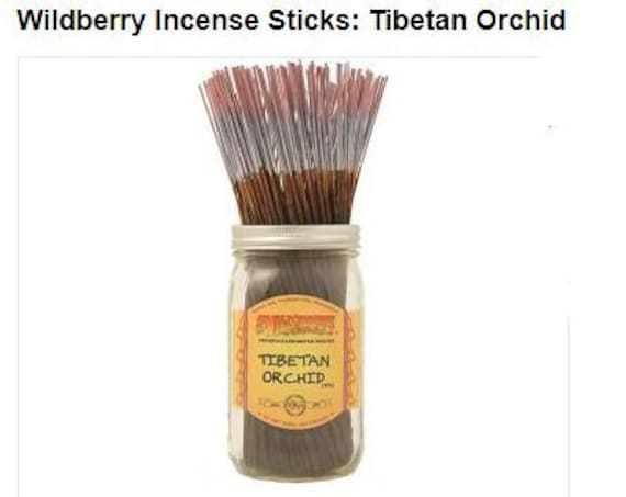 Tibetan orchid wildberry incense, Available in a 10 pack or 30 pack,