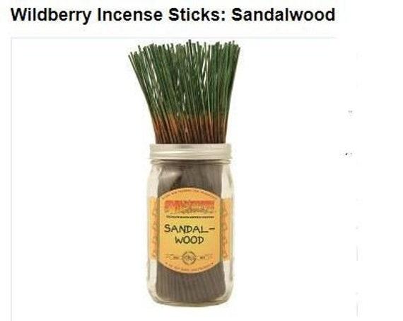 sandalwood wildberry incense, 10 pack, 30 pack, sandelwood, Meditation stick