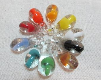 "10 Large 1.5"" Tall Mushroom Pendants - Choose Your Colors - Over 20 colors to choose from! Wholesale mushroom pendants, Glass mushroom drops"