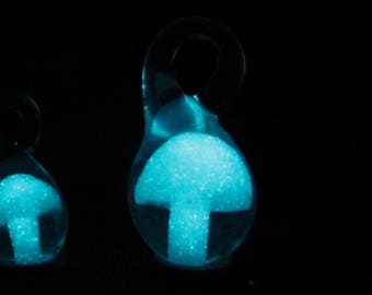 "10 Glow in the DArk, Mushroom Pendants Large Glow in the Dark , 10 pack - 1.5"" tall Pendants Wholesale"