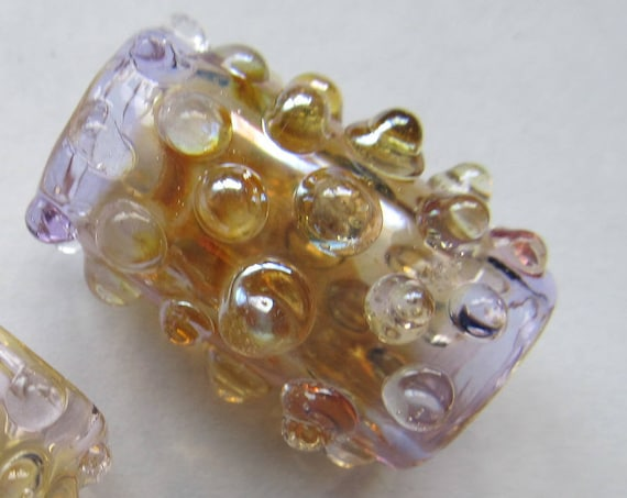 Dots, Lavender - CUSTOM - Choose your color and bead size,  Glass Dread Bead, dreadlock beads