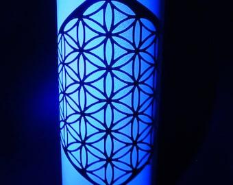 incense bottle Sacred geometry #1, Flower of life , includes 5 free incense, Clean incense burner, blacklight reflective room decor,