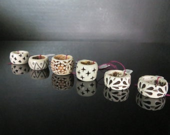 Bone Dread Beads -14mm bead hole -