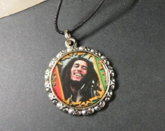 Resin Pendant - Necklace - Bob Marley - Bin #289