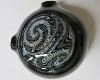 Hollow pendant - Northwest Sky - Heady Switch back spiral made from boro glass