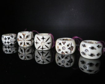Bone Dread Bead - 10mm bead holes -