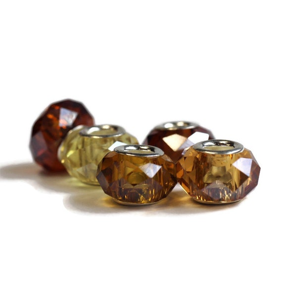 Topaz Dreadlock Beads // Set of 5 beads - 6mm ID beads hole // Beads for Dreadlocks, Loc Jewelry, Hair Beads, Dread Beads, Hair Jewelry