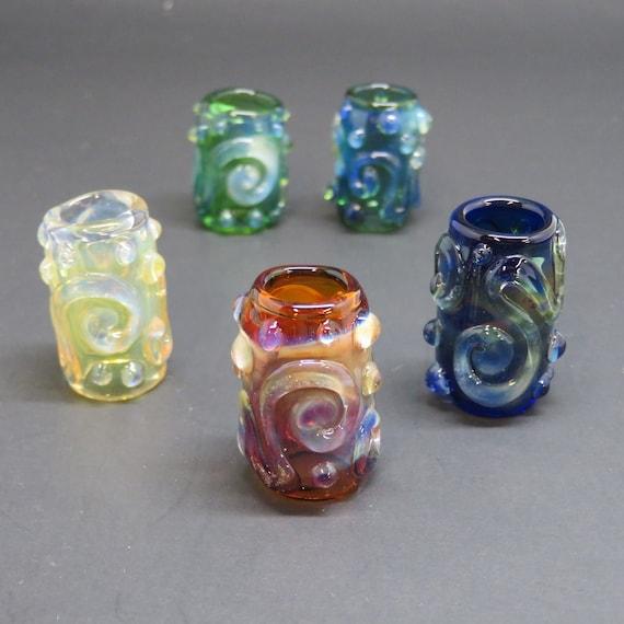 Fancy Silver Fume All Colors // CUSTOM Color & Bead Size // Glass Dreadlock Beads, Dreadlock Accessories, Loc Jewelry