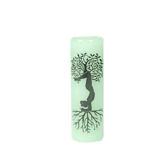 Yoga Pose Glass Dread Bead - CUSTOM Color & Hole Size - Glass Dreadlock Bead, Loc Accessories, Dread Jewelry, 5U009 MTO