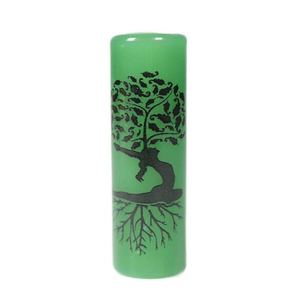 Yoga Pose Glass Dread Bead - CUSTOM Color & Hole Size - Glass Dreadlock Bead, Loc Accessories, Dread Jewelry, 5U006 MTO