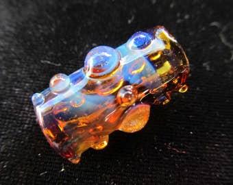 Dot Cross Dreadlock Bead // CUSTOM Color & Bead Hole Size //  Hand Blown Glass Dread Bead, Loc Jewelry, Dread Accessories