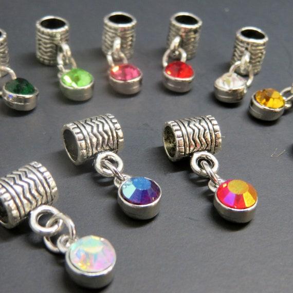 Dangle Dreadlock Bead // 6mm Bead Hole // Dread Cuff, Dreadlock Accessories, Dread Beads, Loc Beads, Loc Jewelry, Dreadlock