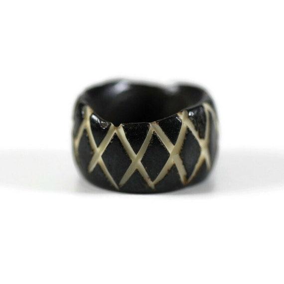 Hash Mark Bone Dread Bead // 6 - 12mm Bead Holes // Dreadlock Beads, Dread Jewelry, Dread Accessories, Large Hole Beads, Hair Beads, 4D007
