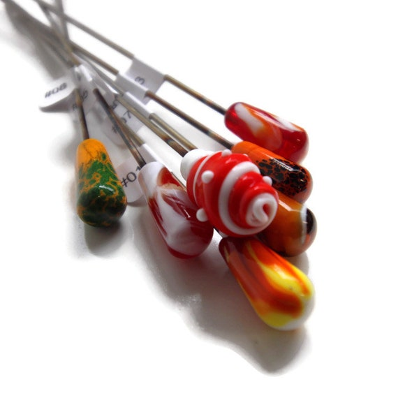 Assorted Pokers Warm Tones, Fairy Garden, Pipe cleaners, Plant Sticks, Stainless Steel Swizzle sticks, Hair Stick, Listing is for one poker