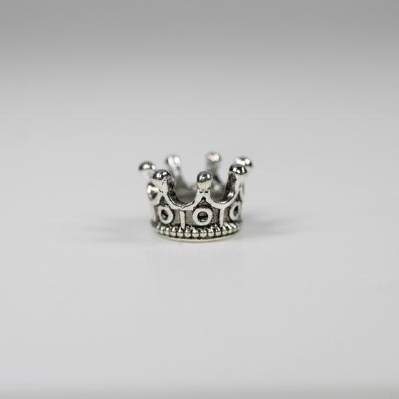 Crown Dreadlock Bead - 5mm bead hole - Large Hole Beads for Jewelry, Flower dread bead, Hair, Braids, Dreadlocks, & Beards, 4E008