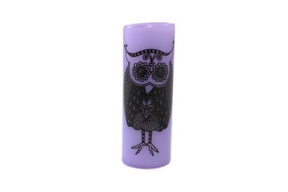 Vintage Owl Dread Bead - Purple - 8 mm bead hole - Glass Dreadlock Bead, Lampworked Bead, Loc bead, Loc Accessories, Dread Jewelry